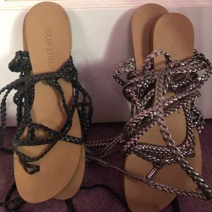 Colin Stewart lace up gladiator sandals